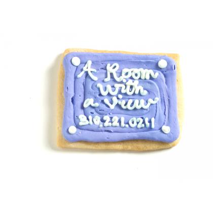 Business card shaped cookies custom cookies isabellas cookies colourmoves